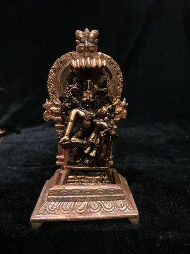 Copper Lakshmi Narasimha Swamy Idol
