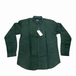 Casual Plain Men's Trendy Shirt, Green