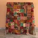 Handmade Patchwork Kantha Vintage Quilt