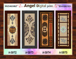 Angle print Multicolor Laminate Fancy Door