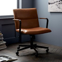 Rotatable Composite Leather Office Chairs, Adjustable Seat Height: Yes