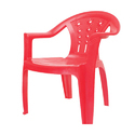 Red Plastic Tent Chair