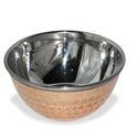 SS Soup Bowl Copper With Saucer