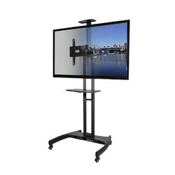 Free Unit Black Led TV Display Foldable Height Adjustable Pedestal Stand, For To Hold Lcd And Leds, 16 To 55 Led Tv