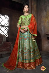 Banarasi Silk Heavy Designer Lehenga Choli By Parvati Fabric