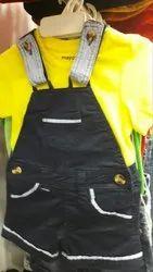 Casual Wear Plain Dungaree Baby Dress