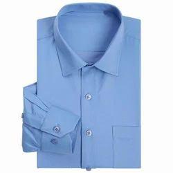 Blue Cotton Corporate Shirt