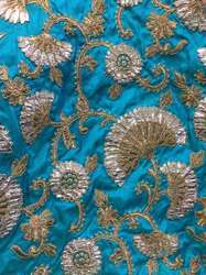 Laser Cording Embroidered Cotton Fabric