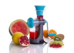 Blue Plastic Fruit Juicer
