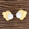 Designer Two Tone Plated Tops Earring 406307