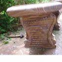 Rd147 Sandstone Garden Bench
