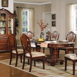 Aarsun Woods 6 Wooden Carved Dining Set, For Home