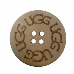 Round Mukesh Coconut Button