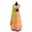 Silk Croptop Lehenga And Heavy Designer Dupatta