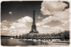 Matte Scenic Beauty With Eiffel Tower