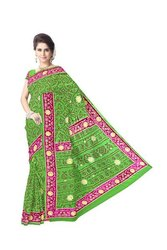 Diamond Work Design Gaji Silk Bandhani Saree