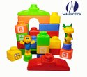 Plastic Wah Notion Animal Park Educational Blocks For Kids 26 Pieces