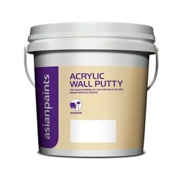 Wall Coating Asian Paints Acrylic Wall Putty, Packaging Type: Bucket, Packing Size: 5 Kg