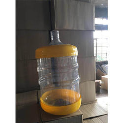 Plastic Transparent Packaged Drinking Water Jar, Capacity: 20 Litre