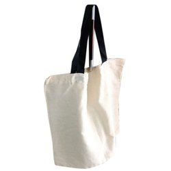 Handled White Cloth Cotton Bag, For Shopping, Capacity: 1-2 Kg