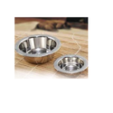 Stainless Steel Pet Bowl W/embossing On Rim