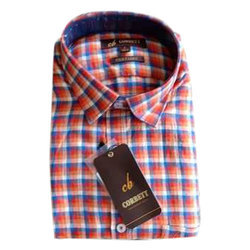 Men's Check Cotton Casual Shirt, Size: S to XXL