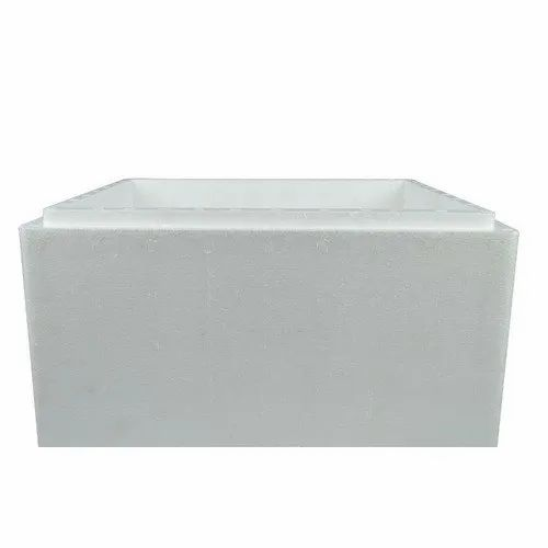 White Plain Thermocol Ice Packaging Box, Density: 10 kg/cubic-meter, Thickness: 5-10 Mm