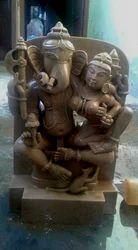 Khajurao Sculptures Ganesh Luxmi Sand Stone Statue