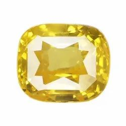 Vivid Yellow Cushion - Cut Sparkly Yellow Sapphire