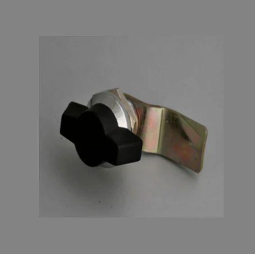 Brass Knob Type Panel Lock, Matte Finish, Keyman Locking