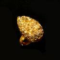 New Design Fashion Gold Plated Gemstone Ring for Women