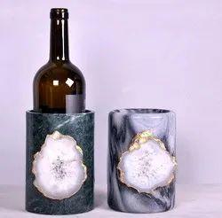 Marble Agate Bottle Holder