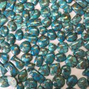 Natural Copper Blue Turquoise Gemstone Cushion Rectangle Oval Smooth Cabochon