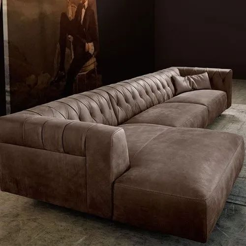 European Leather Sectional Sofa For