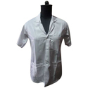 White Cotton Doctor Apron Half Sleeves, For Hopital