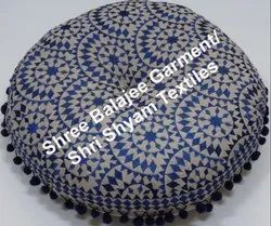 Blue Embroidery Floor cushion Round Bohemian Throw Colorful Floor Seating Meditation Pillow Cushion