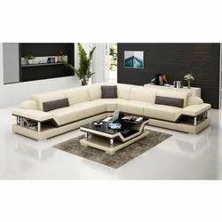 Modern L Shape Leather Sofa Set