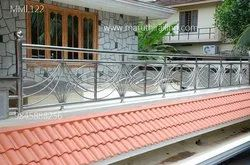Balcony Stainless Steel Railing, For Home, Mounting Type: Floor