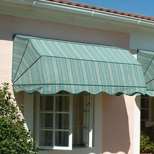 Stripped Polyester Window Drop Awning Shed