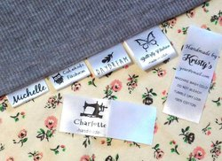 Latest Style Cotton Cloth Name Tags To Sew In Clothes, For Garments, Packaging Type: Packet