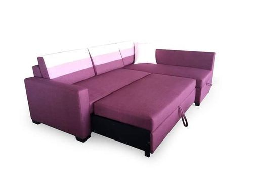 Wooden L Shaped Sofa Bed With Storage Warranty 1 Year