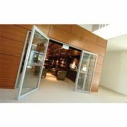 Hinged Powder Coated Aluminium Partition Door for Office