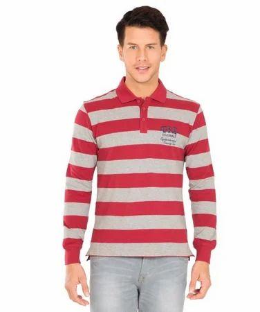 1cc03bac Red And Grey Cotton Jockey Deep Melange Polo Shirt, Rs 1199 /piece ...
