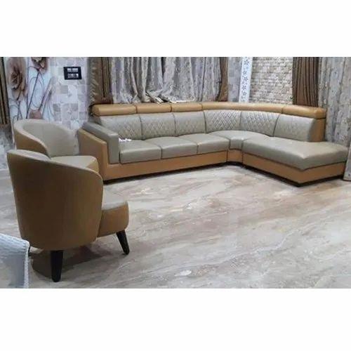 Razvi L Shape 4 Seater Corner Sofa Set