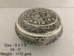 Antique metal dry fruit box