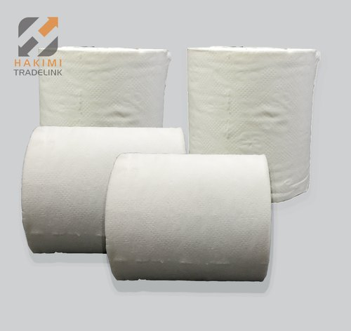 White Tissue Toilet Roll Virgin Material, Pack Size: 250 Sheets Approx , For Parlour