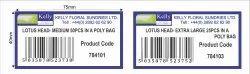 Kelly Barcode Sticker