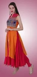 Party Wear Anarkali Ethnic Kurti, Wash Care: Machine wash