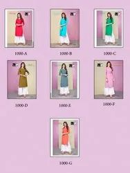 Vee Fab Colour Kit Fancy Casual Wear Kurtis with Palazzo Collection