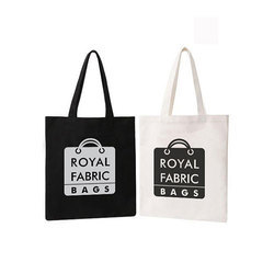 White And Black Printed Royal Fabric Bags, for Shopping, Capacity: 2 Kg